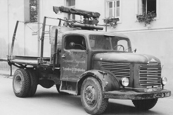 LKW Firma Schafferholz zu Anfangszeiten